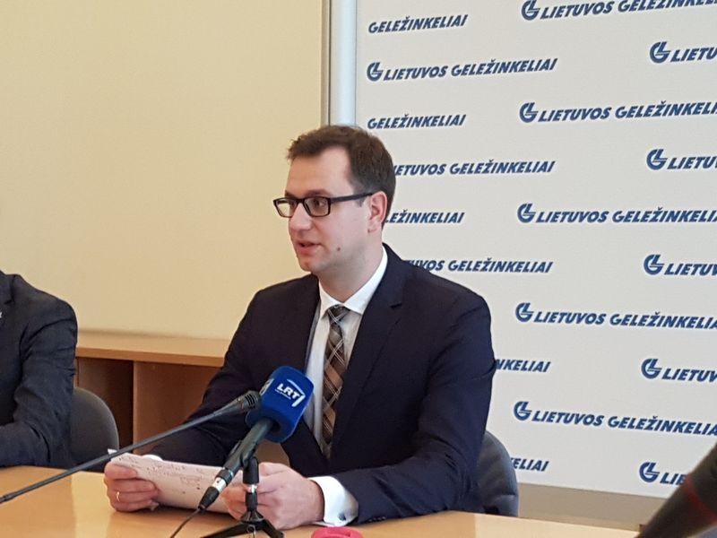 """Mantas Bartuška, AB """"Lietuvos geležinkeliai"""" generalinis direktorius. Naglio Navako (VŽ) nuotr."""