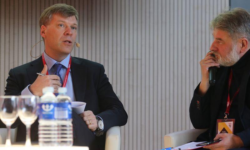"""Linas Dičpetris, EY partneris ir Konsultacinių paslaugų padalinio Baltijos šalyse vadovas: """"Efektyvumo siekis nėra strategija. Juk to siekia visi. Strategija yra aiškiai įvardytas įmonės išskirtinumas, kuris ir yra vertės kūrimo priemonė.""""  Vladimiro Ivanovo (VŽ) nuotr."""