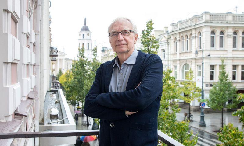 Vokiečių politologas ir atminties tyrinėtojas Clausas Leggewie. Juditos Grigelytės (VŽ) nuotr.