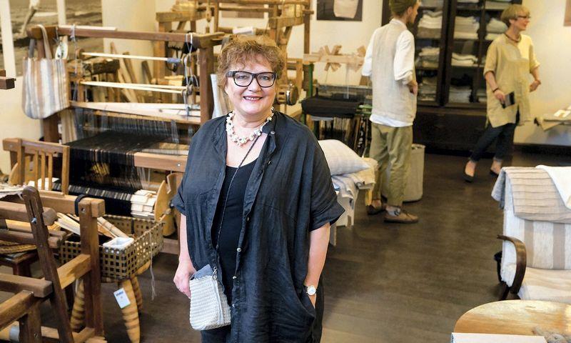 """Jūratė Noethen, UAB """"Jūratė.eu"""", valdančios lino gaminių prekės ženklą """"Jūratė"""", bendraturtė."""
