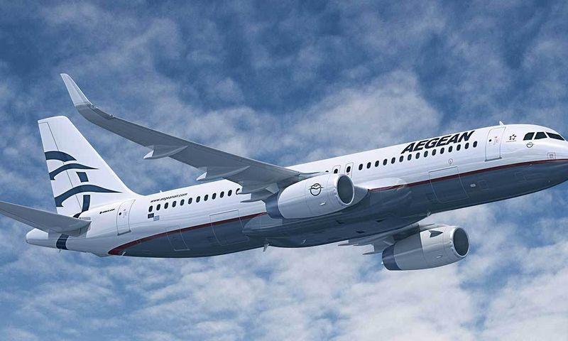 """""""Aegean Airlines"""" lėktuvas. Įmonės nuotr."""