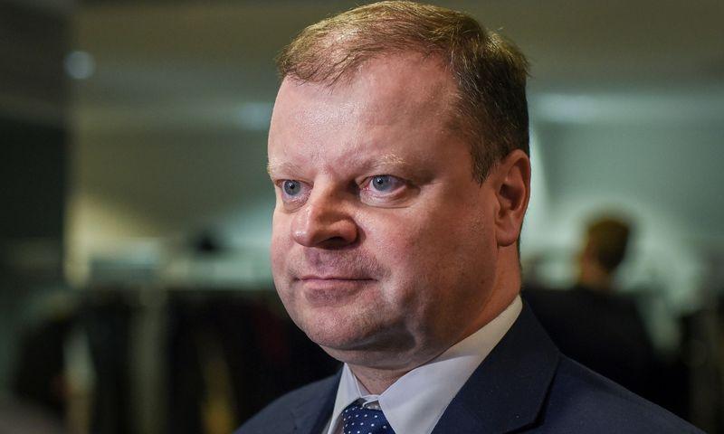 Saulius Skvernelis, Lietuvos ministras pirmininkas. Ryčio Galadausko (VŽ) nuotr.