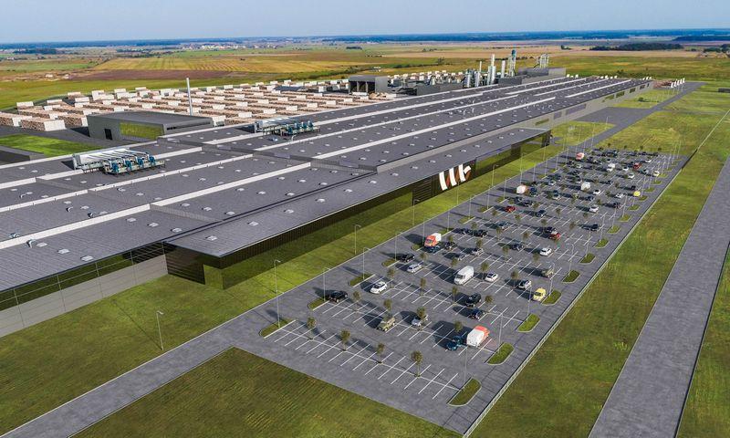 Per artimiausius dvejus metus Vakarų medienos grupė (VMG) planuoja investuoti 210 mln. Eur į industrinį parką šalia Klaipėdos, čia išdygs trys gamyklos ir logistikos centras.  Bendrovės vizualizacija