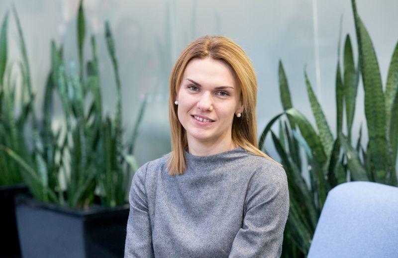 """Giedrė Kubiliūnienė, """"Citadele"""" banko Smulkiųjų ir vidutinių verslo klientų departamento direktorė.\:Palankiai verslo aplinką vertinančių verslininkų dalis per metus padidėjo nuo 14 iki 26%.  Juditos Grigelytės (VŽ) nuotr."""
