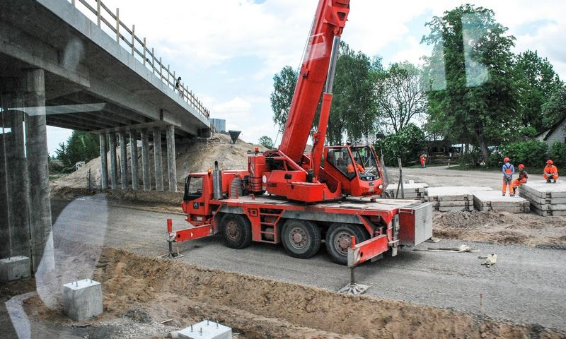 2017 05 22. Kelio A5 Kaunas –Marijampolė–Suvalkai ruožo rekonstravimo darbai. Juditos Grigelytės (VŽ) nuotr.
