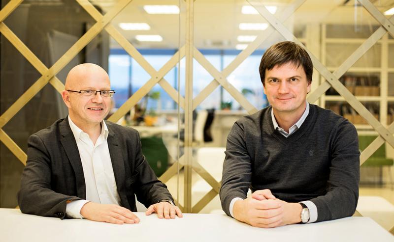 """""""Publicum"""" ir """"Idea"""" grupių vadovai Ričardas Jarmalavičius ir Mark Eikner. Bendrovės nuotr."""