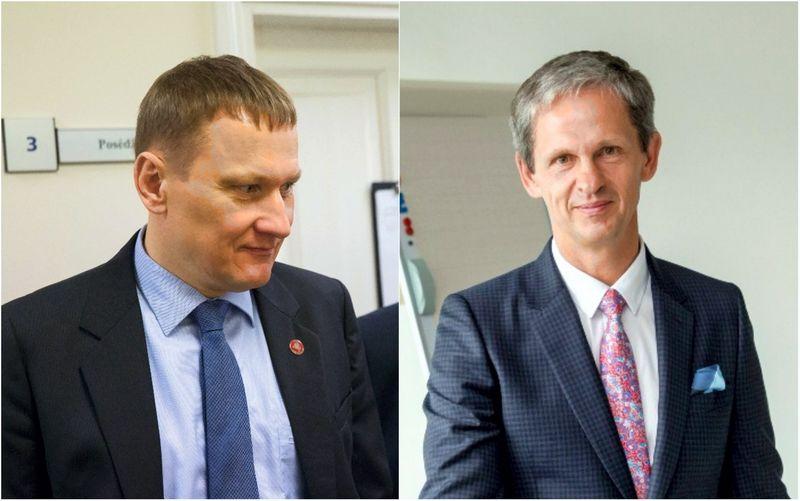 Mindaugas Marcinkevičius ir Nerijus Numavičius, VP gupės akcininkai. VŽ montažas.