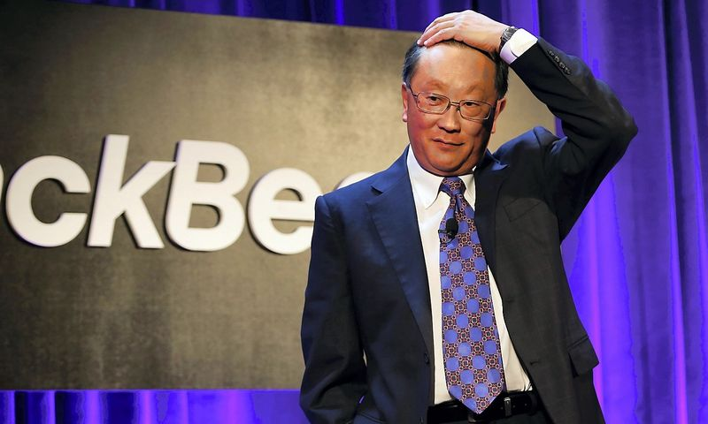"Johnas Chenas, ""BlackBerry"" vadovas. Mike'o Segaro (""Scanpix""/""Reuters"") nuotr."