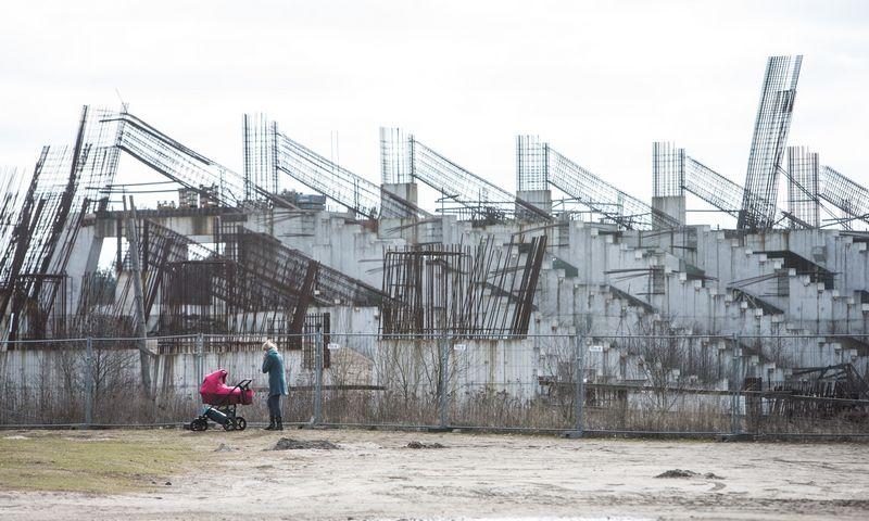 """Viliamasi, kad naujasis Koncesijų įstatymas prisidės prie Nacionalinio stadiono projekto išjudinimo iš """"mirties taško"""". Juditos Grigelytės (VŽ) nuotr."""