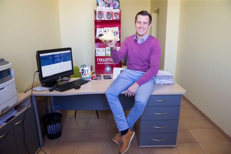 """Marius Martinaitis, prekybos medicininėmis prekėmis UAB """"M prekyba"""" direktorius. Juditos Grigelytės (VŽ) nuotr."""