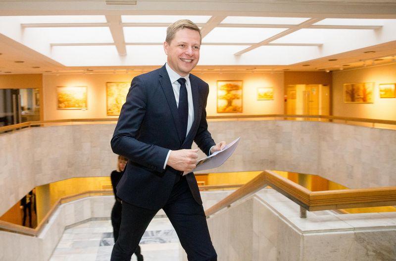 Vilniaus miesto meras Remigijus Šimašius lankosi Vyriausybėje. Juditos Grigelytės (VŽ) nuotr.