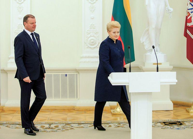 Dalia Grybauskaitė ir Saulius Skvernelis. Vladimiro Ivanovo (VŽ) nuotr.