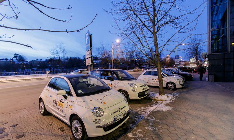 """""""CityBee"""" automobiliai. Vladimiro Ivanovo (VŽ) nuotr."""