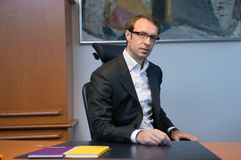 Nerijus Datkūnas, Lietuvos pašto valdybos pirmininkas. Juditos Grigelytės (VŽ) nuotr.