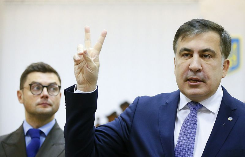 Mikhailas Saakašvilis, buvęs Gruzijos prezidentas. Valentyno Ogirenkos (Reuters / Scanpix) nuotr.