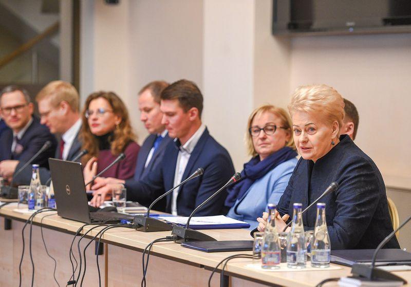 Prezidentė susitinka su savivaldybių merais. Roberto Dačkaus (lrp.lt) nuotr.