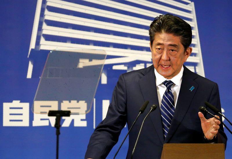 Shinzo Abe, Japonijos ministras pirmininkas. Toru Hanai (Reuters / Scanpix) nuotr.