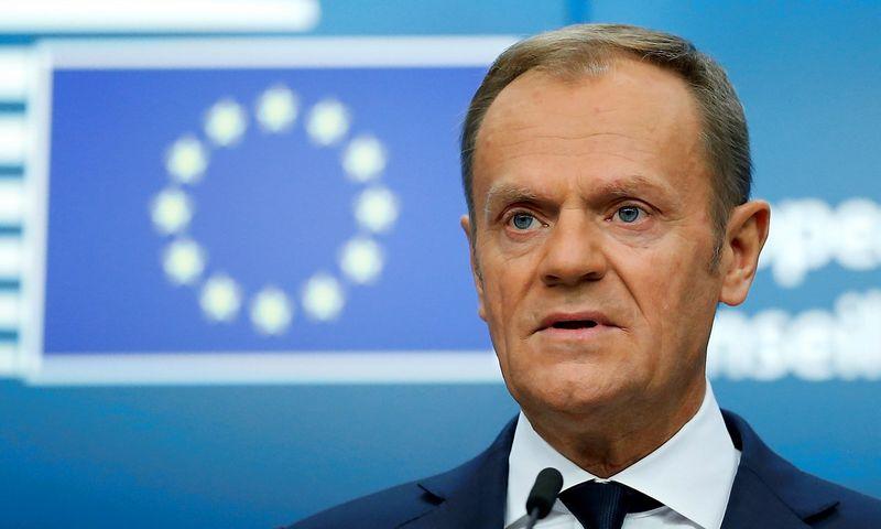 Donaldas Tuskas, Europos Vadovų Tarybos pirmininkas. Francois Lenoir (Reuters / Scanpix) nuotr.