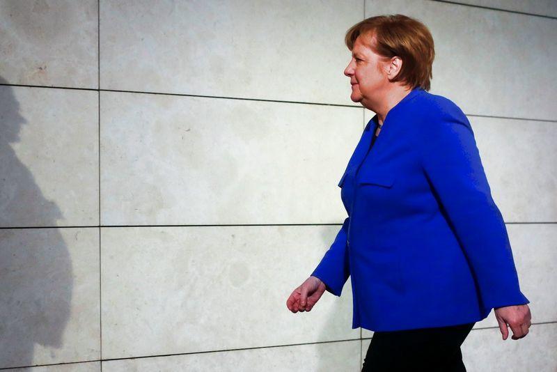 Angela Merkel, Vokietijos kanclerė.  HannibaloHanschkės (Reuters / Scanpix) nuotr.