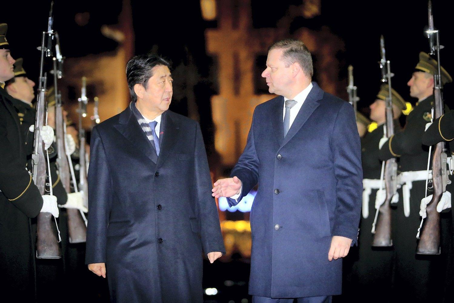 Japonijos ir Lietuvos vadovai sutarė gilinti bendradarbiavimą