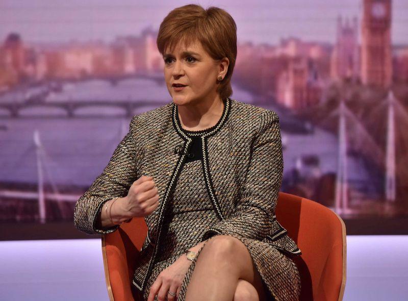 """Nicola Sturgeon, Škotijos pirmoji ministrė. Jeffo Overso (""""Reuters"""" / """"Scanpix"""") nuotr."""