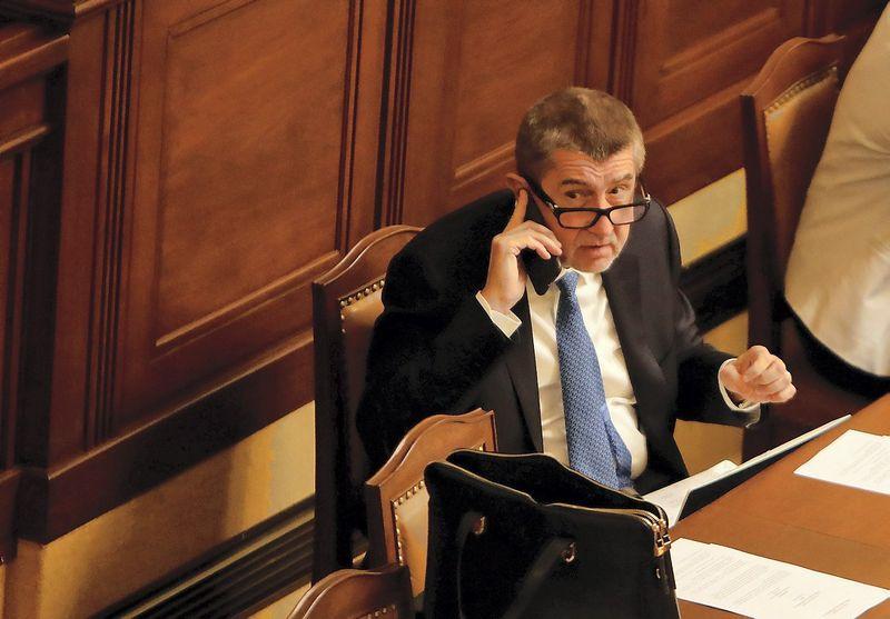 """Andrejus Babišas, atsistatydinantis Čekijos premjeras. Davido W Cerny (""""Reuters"""" / """"Scanpix"""") nuotr."""