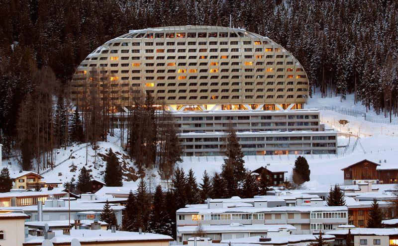The InterContinental hotel is seen in the Swiss mountain resort of Davos, Switzerland, January 11, 2018  REUTERS/Arnd Wiegmann