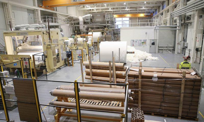 """AB """"Grigeo"""" higieninįo popieriaus gamybos cechas. Vladimiro Ivanovo ( VŽ) nuotr."""