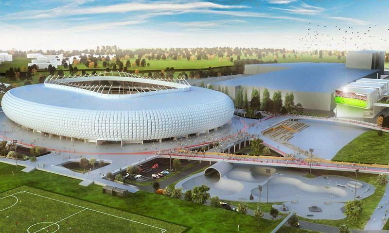 """UAB """"Vilniaus nacionalinis stadionas"""" pasiūlymo vizualizacija."""