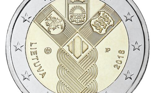 Prekyboje – 100-mečiui skirtos Baltijos šalių monetos