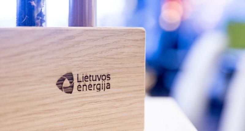 """""""Lietuvos energija"""" logotipas. Juditos Grigelytės (VŽ) nuotr."""