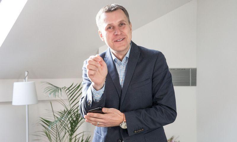 """Andrius Šemeškevičius, """"Telia LIetuva"""" technologijų vadovas. Juditos Grigelytės (VŽ) nuotr."""