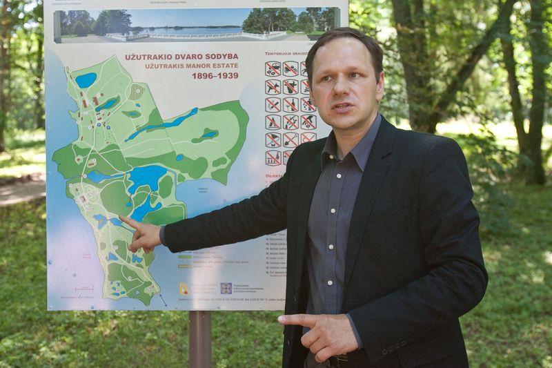 Gintaras Abaravičius, Trakų istorinio nacionalinio parko direktorius. Herkaus Milaševičiaus nuotr.