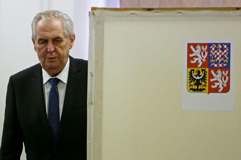 Milošas Zemanas, Čekijos prezidentas REUTERS NUOTR.