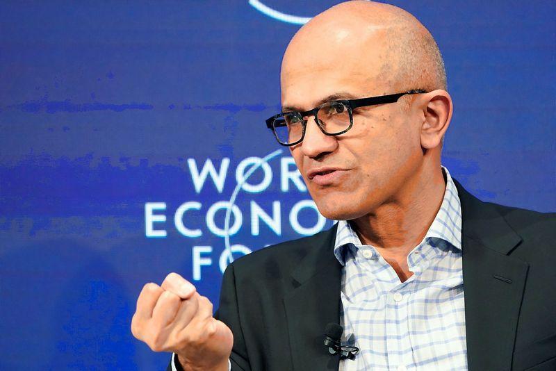 """Satya Nadella, """"Microsoft"""" generalinis direktorius. Deniso Balibouse (""""Reuters"""" / """"Scanpix"""") nuotr."""