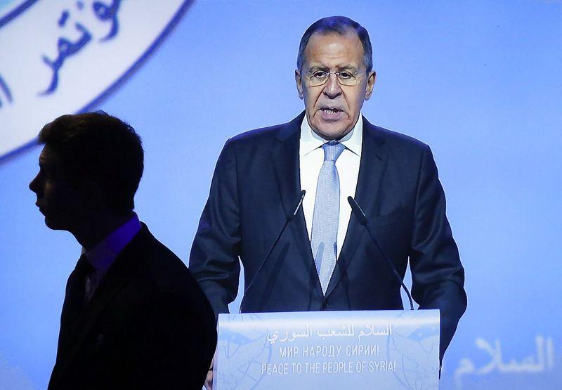 Sergejus Lavrovas, Rusijos užsienio reikalų ministras. Sergejaus Karpukhino (Reuters / Scanpix) nuotr.