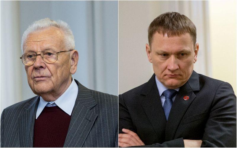 VŽ montažas. Jonas Karčiauskas (kairėje) ir Mindaugas Marcinkevičius. Vladimiro Ivanovo (VŽ) nuotr.