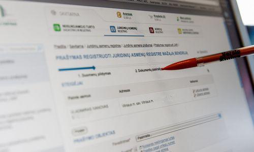 Keičiasi juridinių asmenų registravimo įpročiai