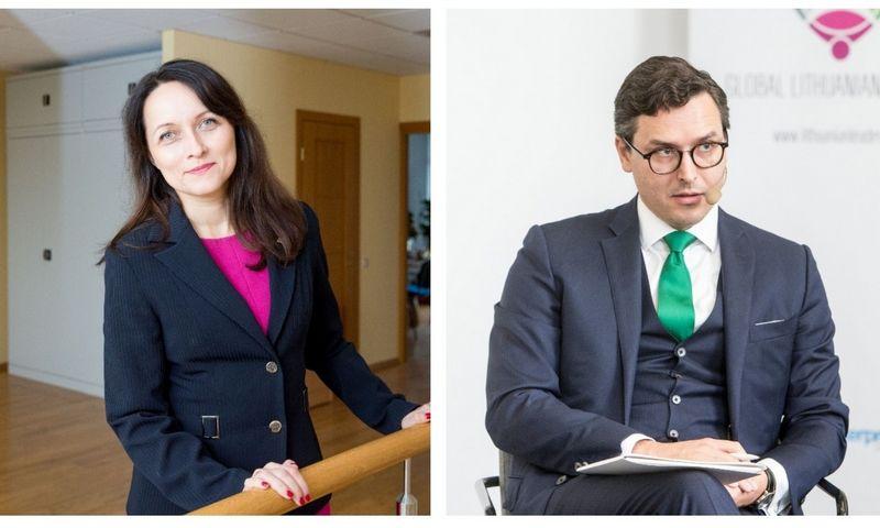 """Daiva Čibirienė, LBAA prezidentė, ir Linas Sabaliauskas, """"Triniti"""" advokatas. VŽ koliažas"""