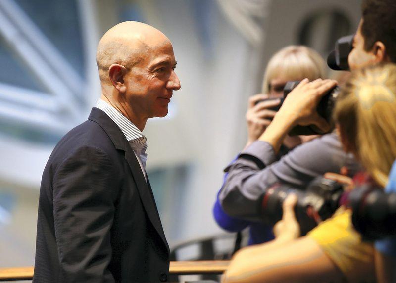 """Jeffas Bezos, """"Amazon"""" įkūrėjas ir vadovas. Lindsey Wasson (""""Reuters"""") nuotr."""