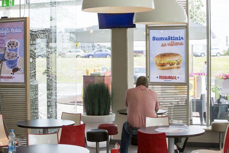 """Šiemet Lietuvoje turėtų būti atidaryti 3–4 nauji """"Hesburger"""" restoranai, kuriuose bus sukurta 60 naujų darbo vietų. Vladimiro Ivanovo (VŽ) nuotr."""