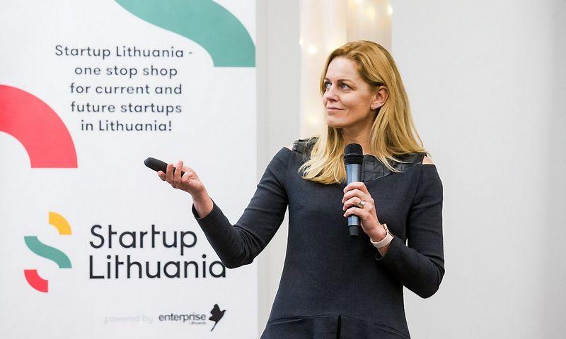 """""""Versli Lietuva"""" startuolių ekosistemos komandos """"Startup Lithuania"""" vadovė Roberta Rudokienė. Juditos Grigelytės (VŽ) nuotr."""