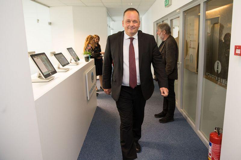 """Tadas Vizgirda, Amerikos prekybos rūmų Lietuvoje pirmininkas, """"Harbortouch Payments Lithuania"""" vadovas. Vladimiro Ivanovo (VŽ) nuotr."""