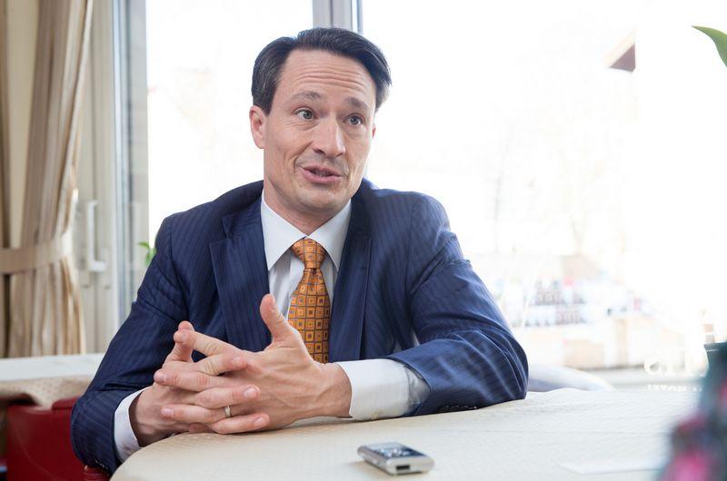 Ericas Stewartas, Amerikos ir Lietuvos verslo tarybos prezidentas. Juditos Grigelytės (VŽ) nuotr.