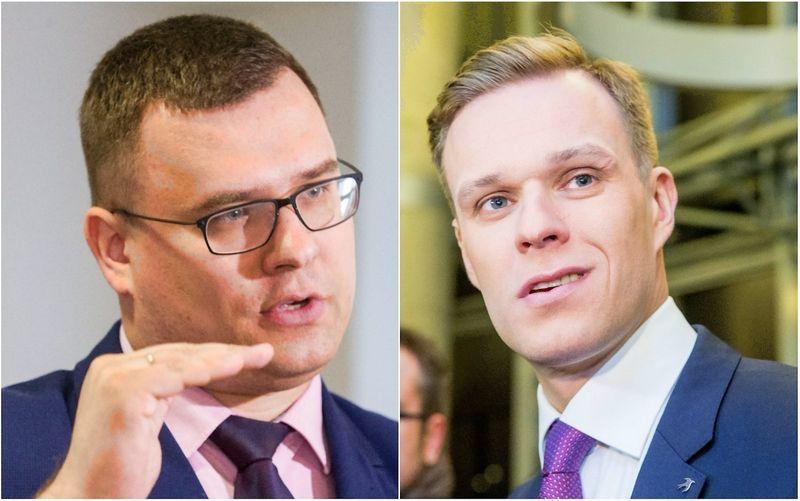 Laurynas Kasčiūnas, Gabrielius Landsbergis. VŽ nuotraukų koliažas.