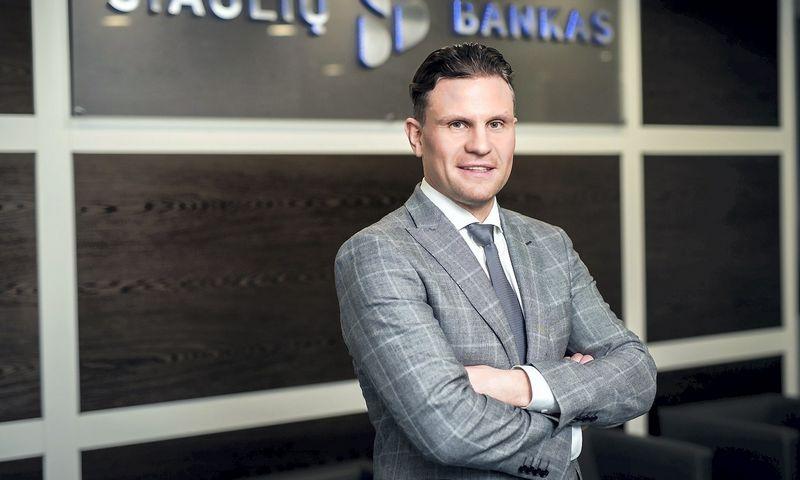Mindaugas Rudys, Šiaulių banko Finansavimo paslaugų vystymo departamento direktorius, pataria užsitikrinus vieną finansavimo šaltinį nesustoti ir ieškoti būdų, kaip tarpusavyje suderinti kelias finansavimo formas. Ryčio Galadausko nuotr.