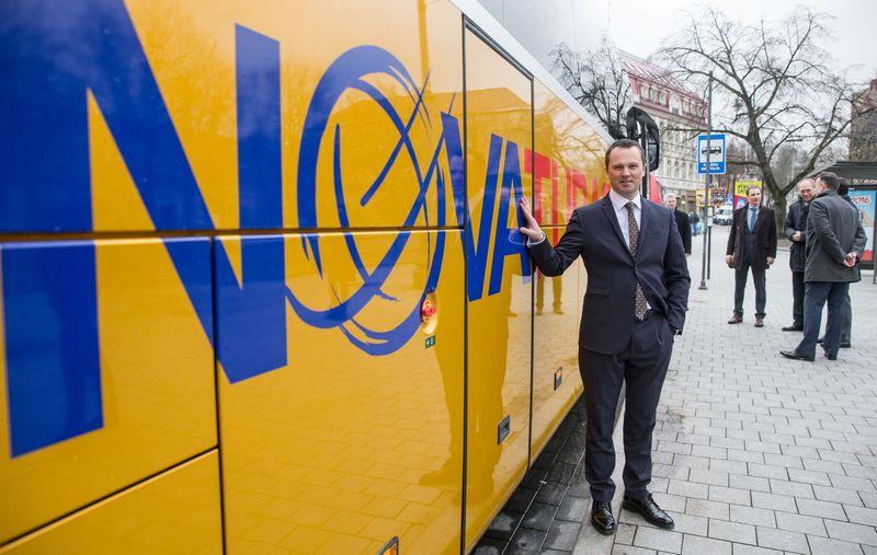 """Linas Aldonis, """"Novaturo"""" generalinis direktorius, sako, kad biržos investuotojus """"Novaturas"""" vilios kaip dividendinė bendrovė. Juditos Grigelytės (VŽ) nuotr."""