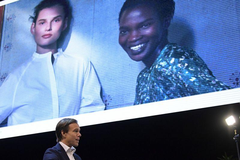 Karlas Johanas Perssonas, H&M generalinis direktorius. Janeriko Henrikssono (TT) nuotr.