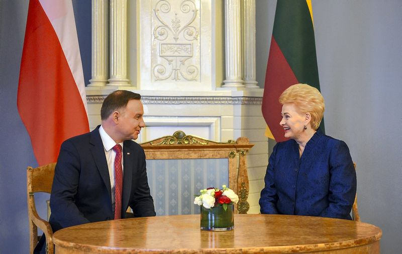 Prezidentė Dalia Grybauskaitė susitiko su Lenkijos prezidentu Andrzejumi Duda. Roberto Dačkaus (Prezidento kanceliarija) nuotr.