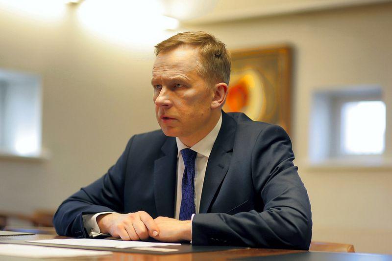 """Ilmaras Rimsevičius, Latvijos centrinio banko vadovas. Andrejaus Strokinio (""""Reuters"""" / """"Scanpix"""") nuotr."""